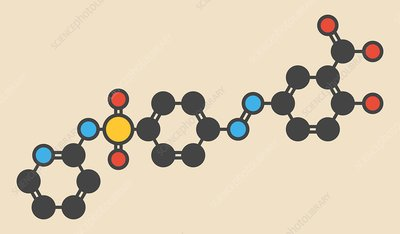 Sulfasalazine drug molecule