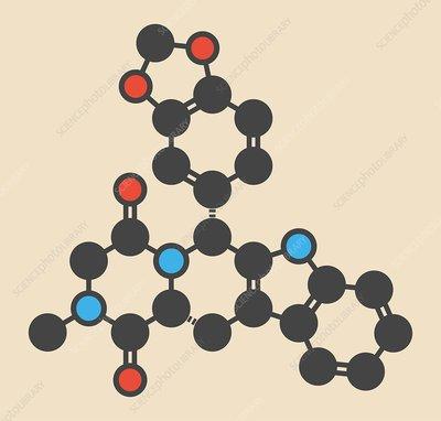 Tadalafil molecule