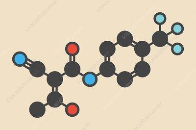 Teriflunomide molecule