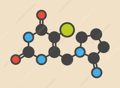 Tipiracil cancer drug molecule