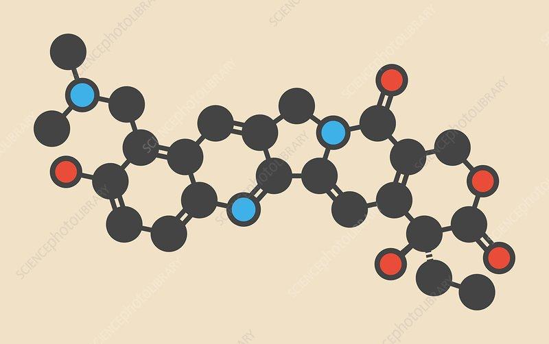 Topotecan cancer drug molecule