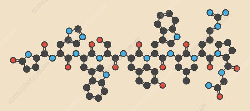 Triptorelin drug molecule