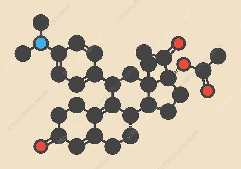 Ulipristal acetate contraceptive molecule