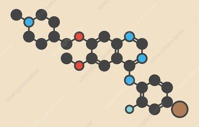 Vandetanib cancer drug molecule