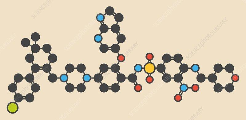 Venetoclax cancer drug molecule