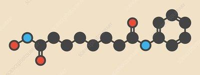 Vorinostat lymphoma drug molecule