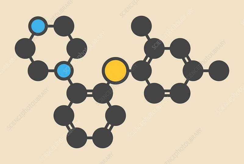 Vortioxetine antidepressant drug molecule