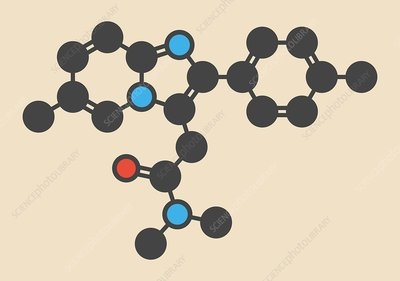 Zolpidem insomnia drug molecule