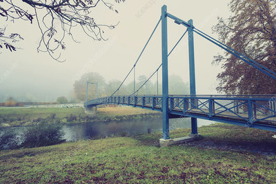 Footbridge over a river