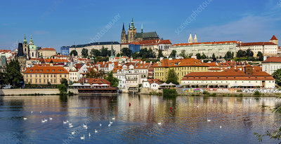 Prague castle and old town