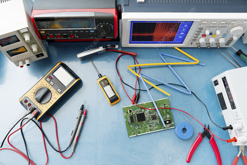 Electronic Measuring Instruments : Electronic measuring instruments stock image f