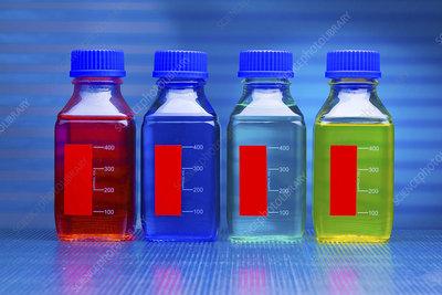 Liquids in bottles
