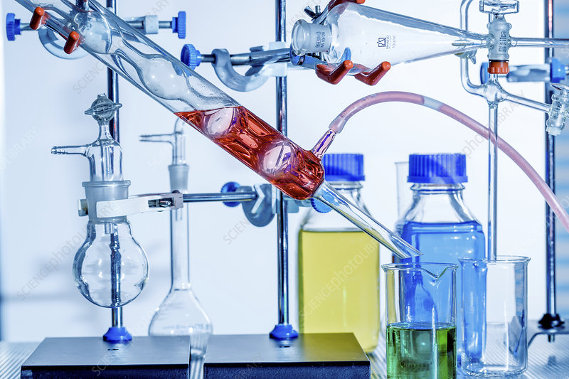 Chemistry experiment in lab