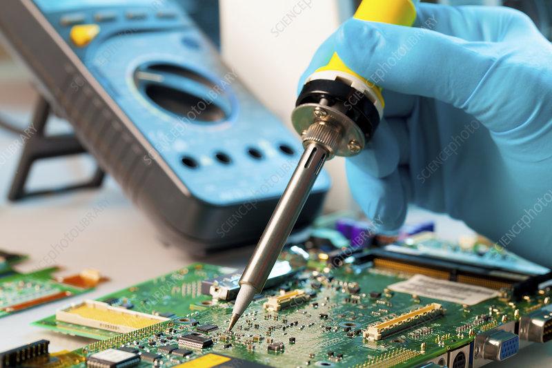 Soldering microchip