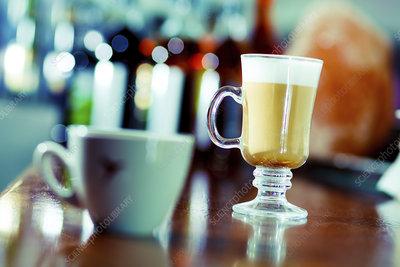 Irish coffee and teacup