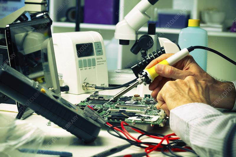 Soldering micro chip