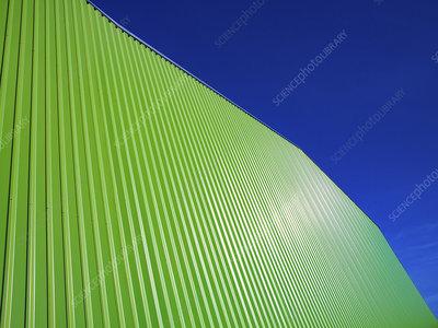 Modern green building facade