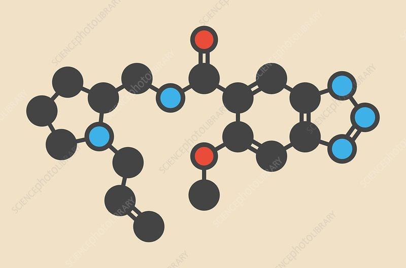 Alizapride antiemetic drug molecule