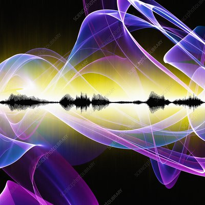 Abstract sound waves