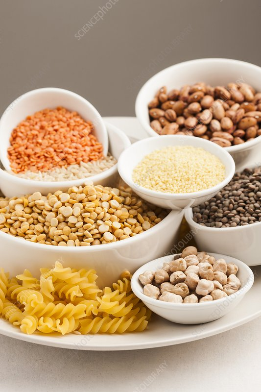 Dried foods, grains and pulses