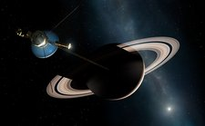 Voyager II Probe Passes Saturn