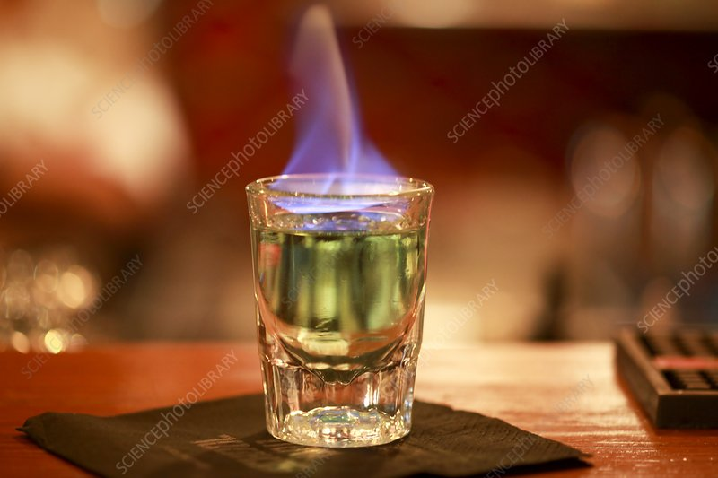 Flaming alcohol