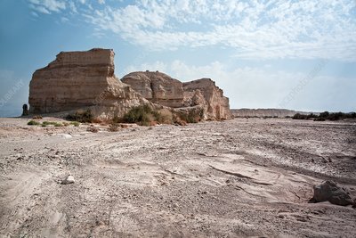Dead Sea, Eroded rock