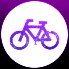 Glowing neon bicycle sign