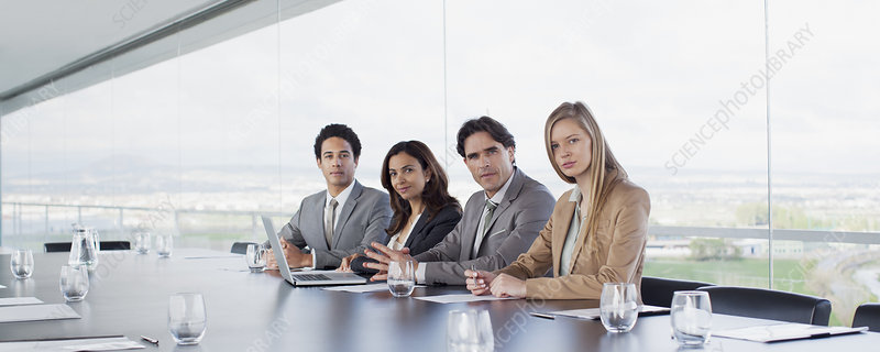 Portrait of confident business people