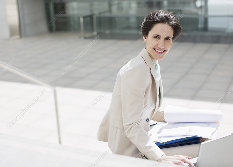 Portrait of smiling businesswoman