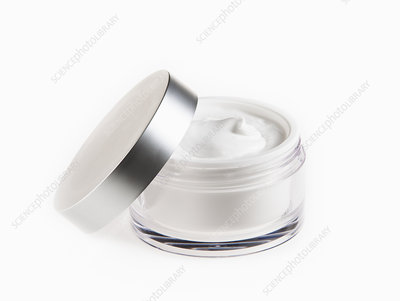 Close up of moisturizer in jar