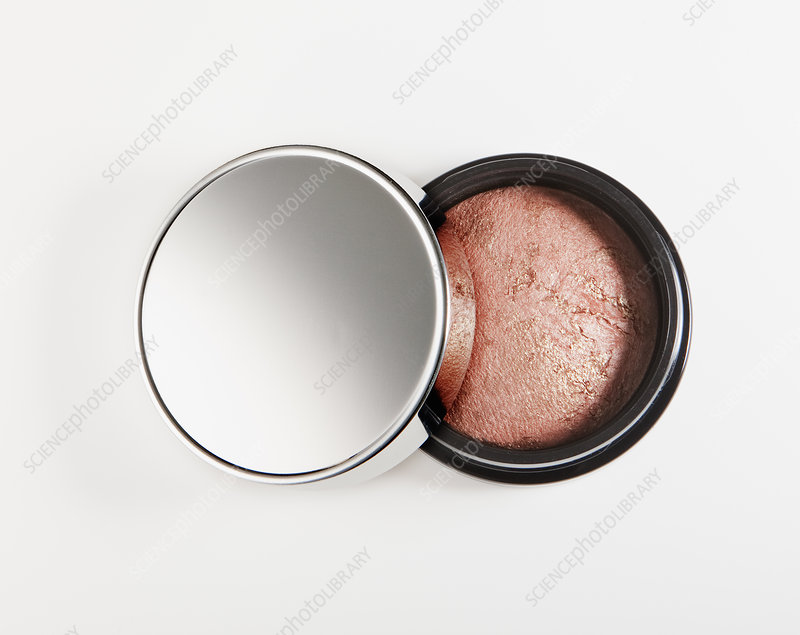 Close up of blush in jar