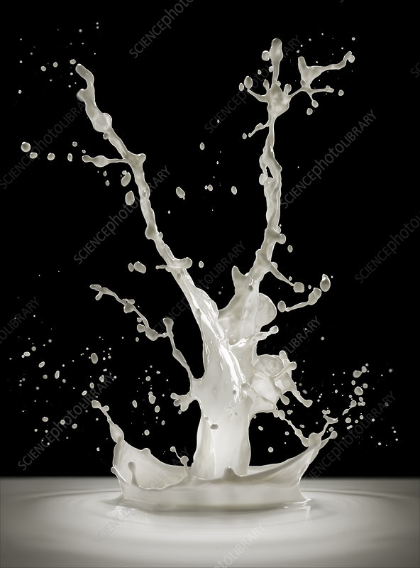 Milk splashing