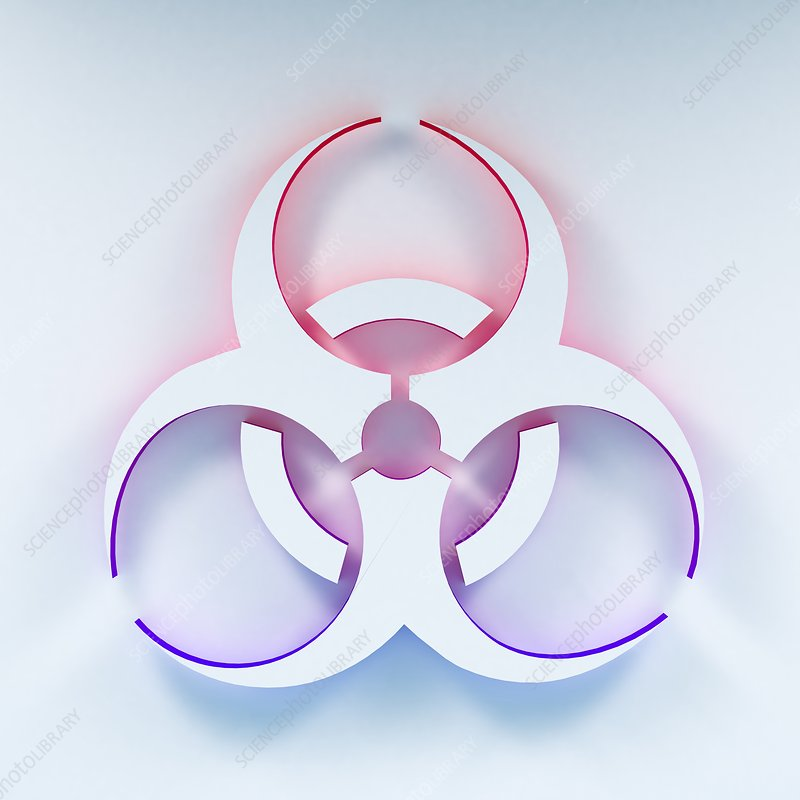 Biohazard symbol, illustration