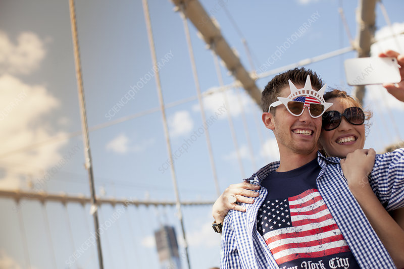 Couple in novelty sunglasses