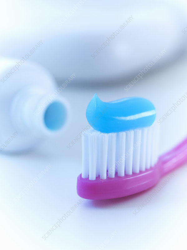Close up of toothbrush with toothpaste