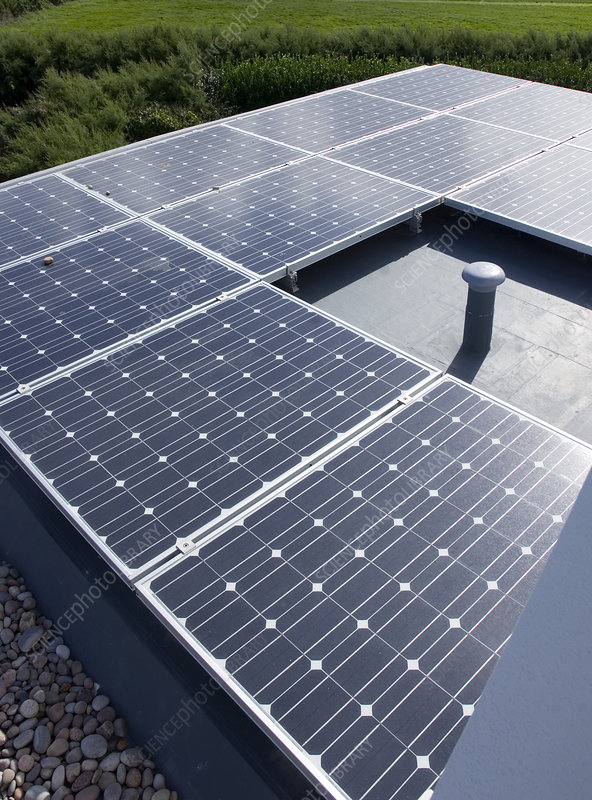 Close up of solar panels outdoors