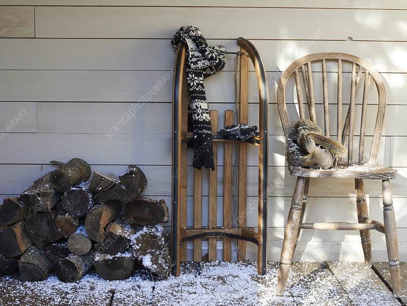 Porch in winter