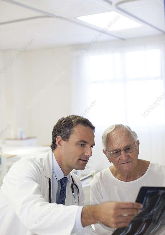 Doctor showing x-rays