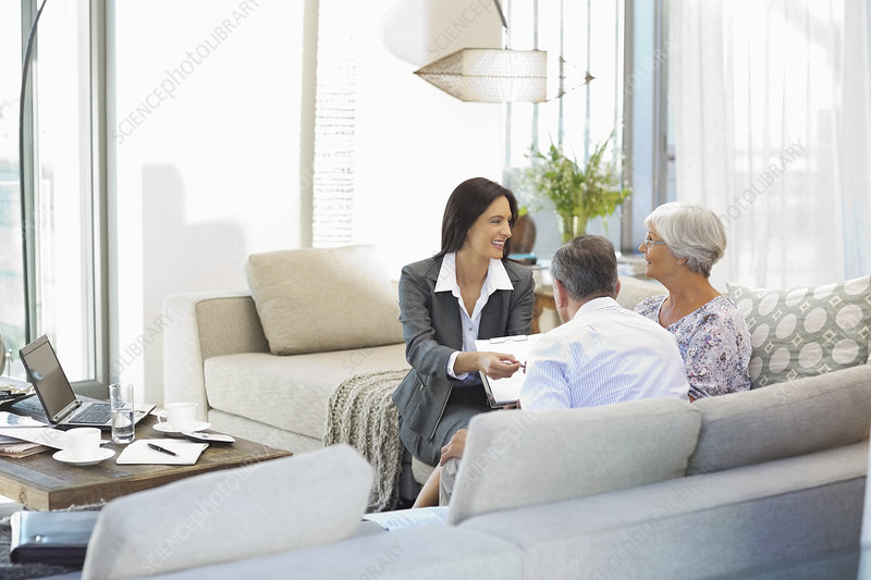 Financial advisor talking to couple