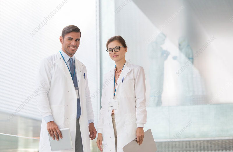 Portrait of confident doctors in hospital