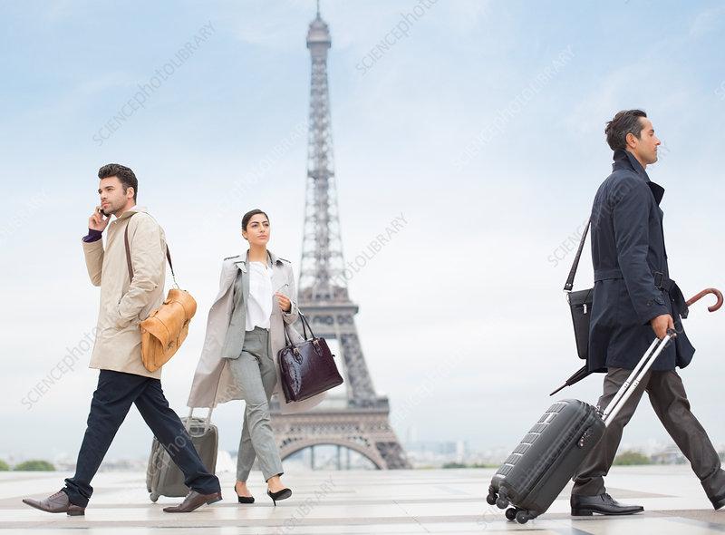 Business people walking in Paris