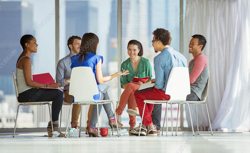 Creative business people meeting