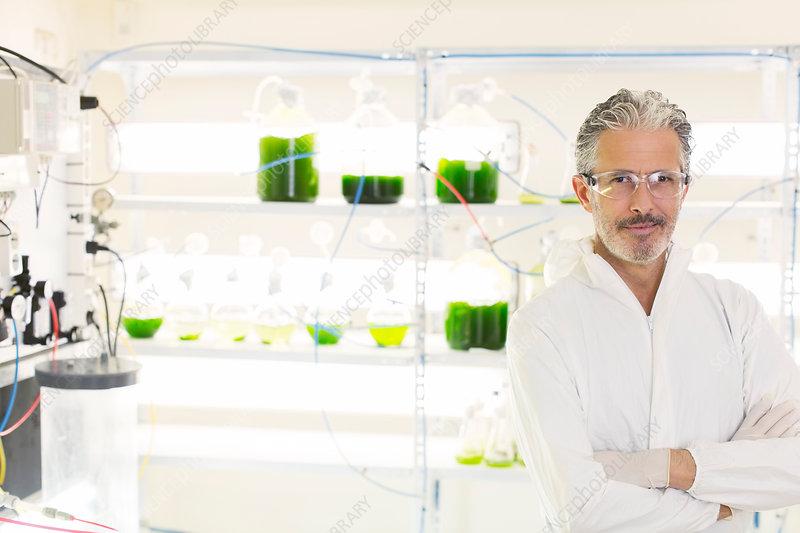 Botanist in laboratory