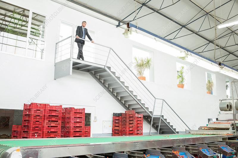 Supervisor standing on platform