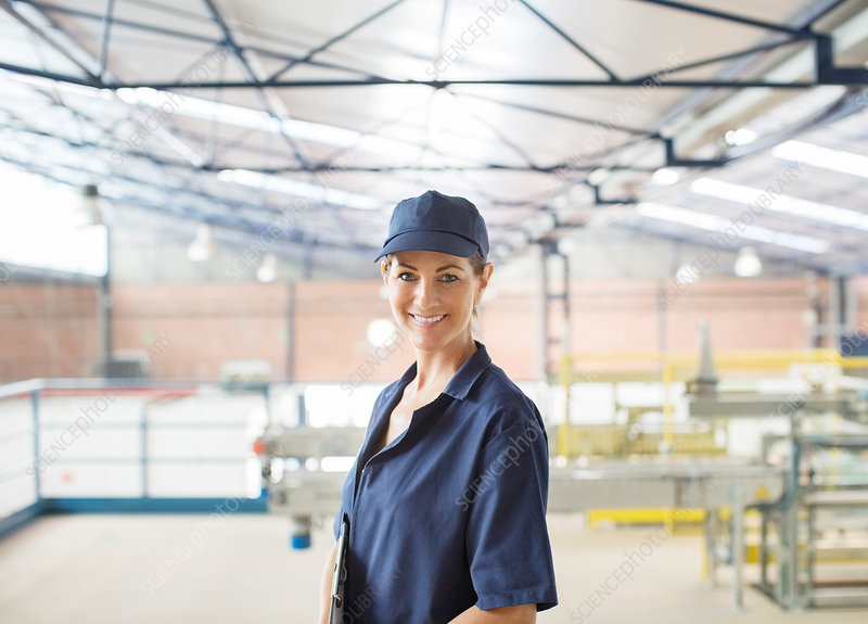 Worker in food processing plant