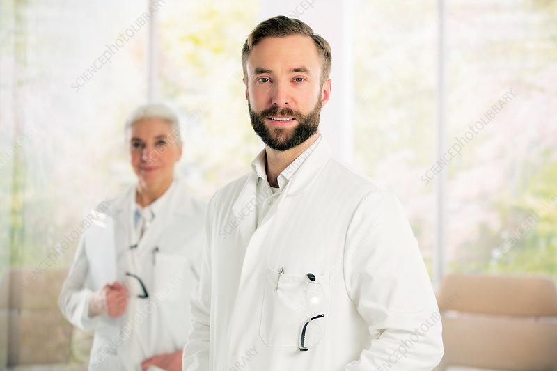 Portrait of confident doctors