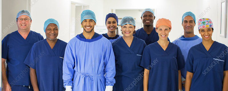 Group Surgeons standing