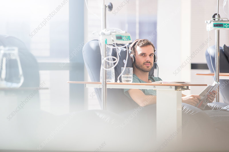 Man receiving intravenous infusion