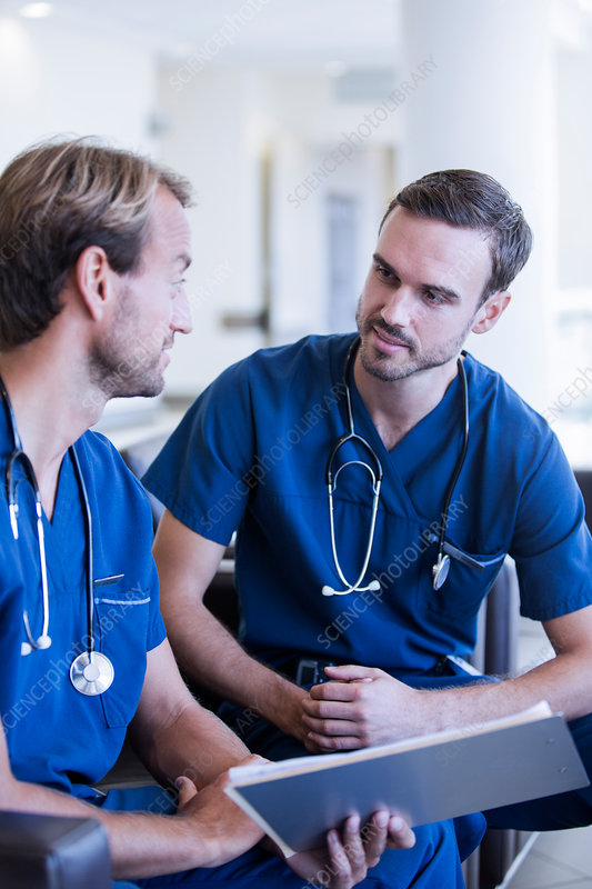 Two male doctors with stethoscopes